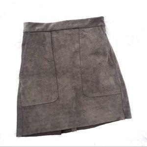 Dress Forum Suede Brown Silky Skirt